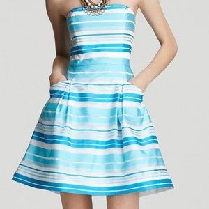 Lilly Pulitzer Turquoise Silk Blossom Dress, 10